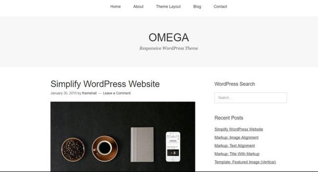 omega theme demo