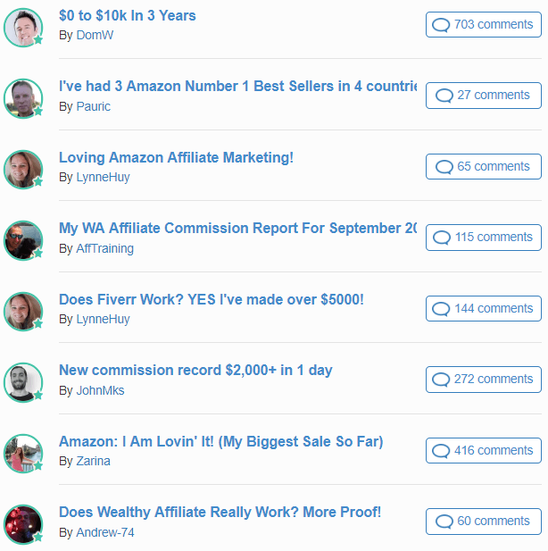 wealthy affiliate success stories examples