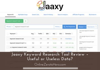 jaaxy keyword research tool review