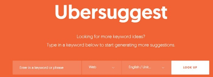 ubersuggest website