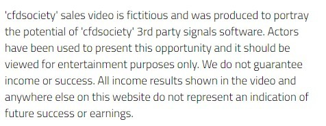 cfd society disclaimer