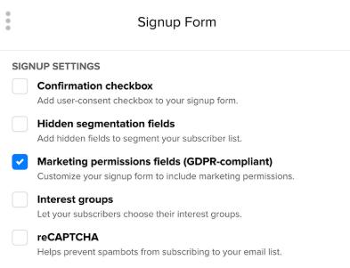 gdpr settings on mailerlite