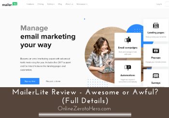 Email Marketing Mailerlite  For Cheap