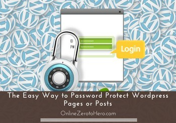 password protect wordpress pages and posts