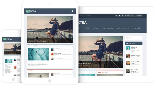 responsive design extra theme
