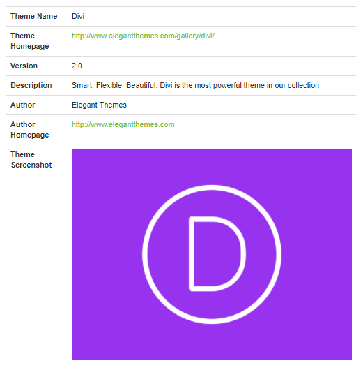 whatwpthemeisthat divi detection