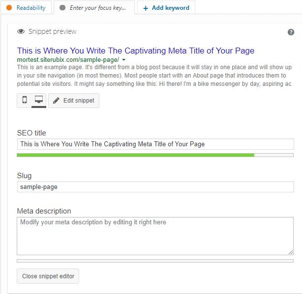 yoast metadata