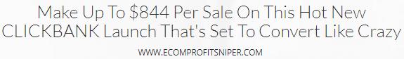 ecom profit sniper affiliate program