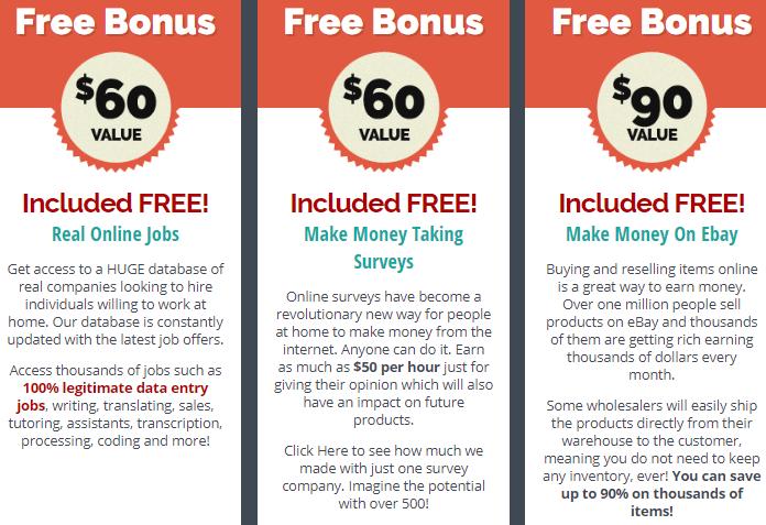 legit online jobs bonuses