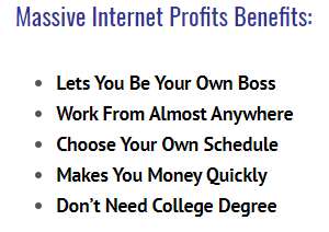 massive internet profits benefits