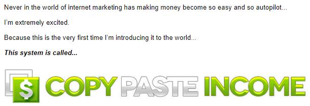 money on autopilot with copy paste income