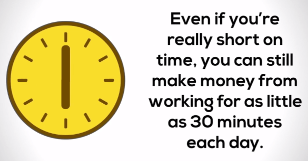 only work 30 minutes per day online