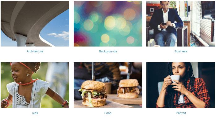 shutterstock image categories