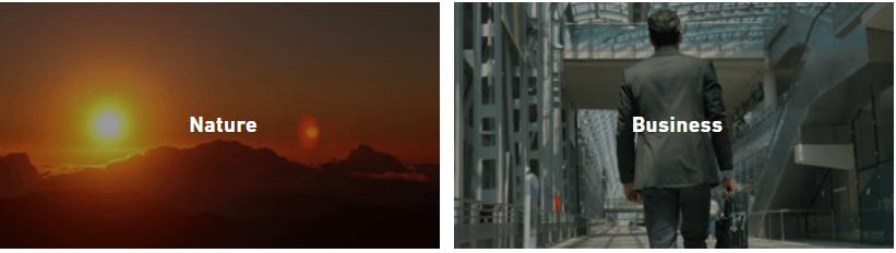 shutterstock video clip categories