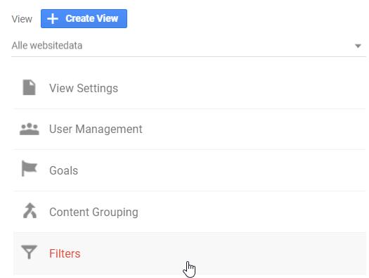 create analytics filter