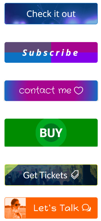 divi button examples