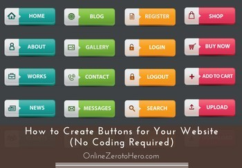 how to create buttons for your website