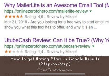 how to get rating stars in google results