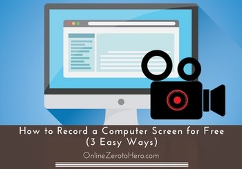 how to record a computer screen for free