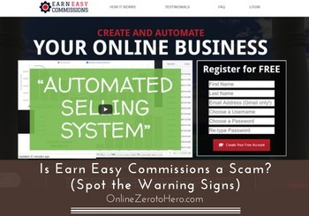 is earn easy commissions a scam