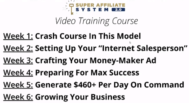 super affiliate system 6 weeks overview
