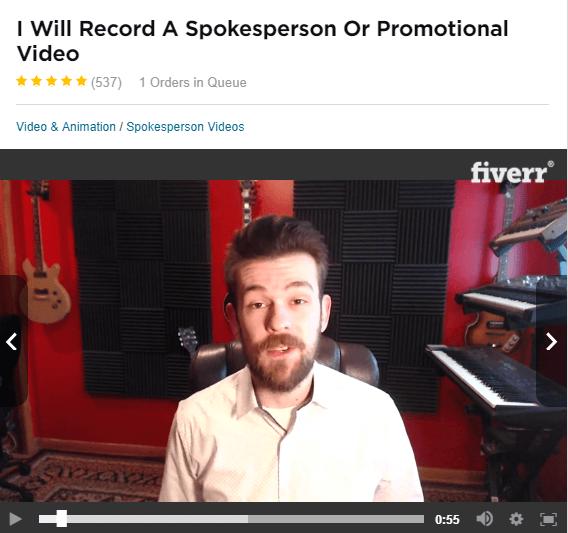 testimonial on fiverr