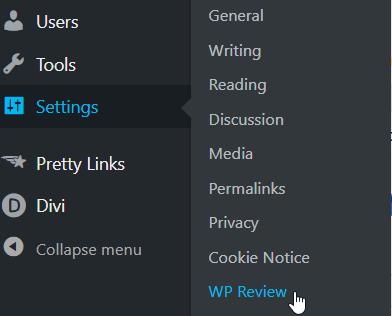 wp review settings