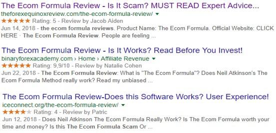 ecom formula reviews examples