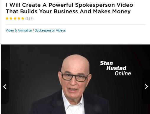fake video testimonial example