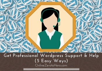 get professional wordpress support and help header