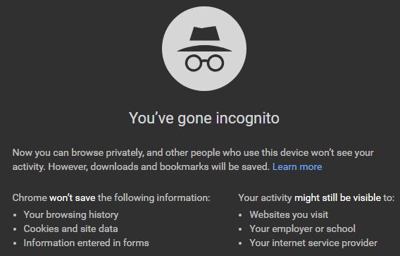 google incognito search