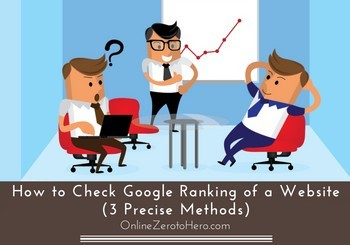 how to check google ranking of a website header