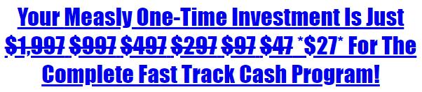 fast track cash price