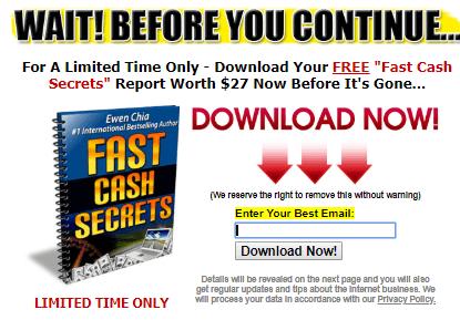 free fast cash report