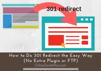 how to do 301 redirect the easy way header