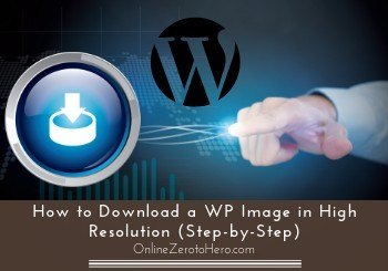 how to download a wp image in high resolution header