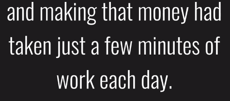 only work few minutes per day