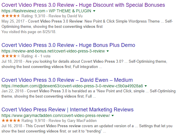 positive covert video press reviews examples