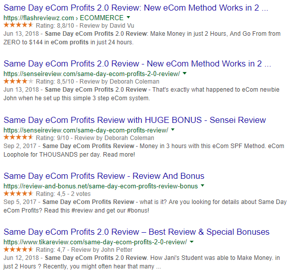 positive same day ecom profits reviews