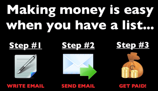 steps to make money with email list