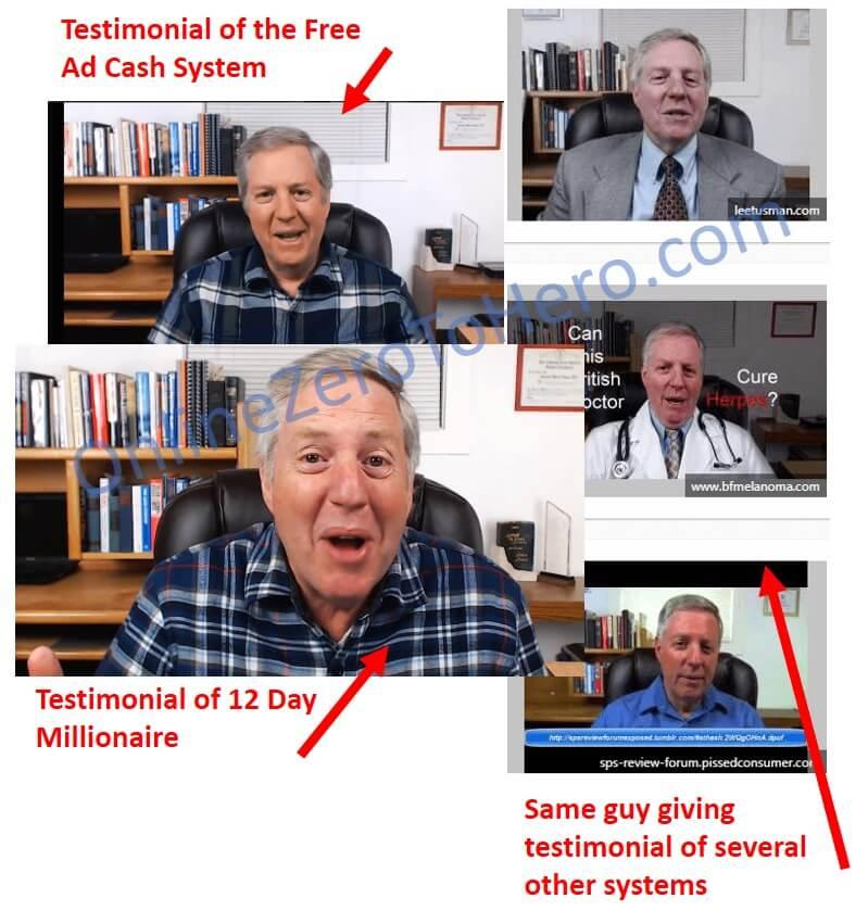 12 day millionaire false testimonial 2