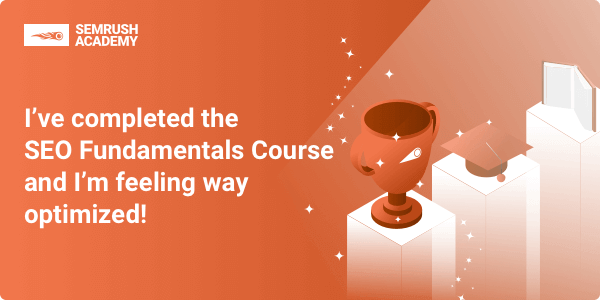 completed semrush course