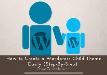 how to create a wordpress child theme easily header