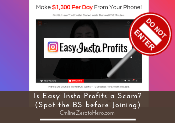 is easy insta profits a scam review header
