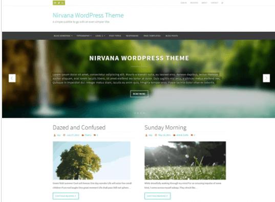 nirvana theme presentation page