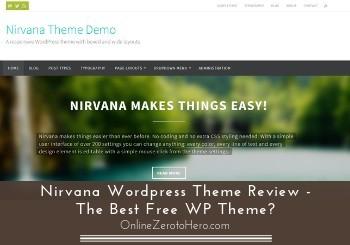 nirvana wordpress theme review header