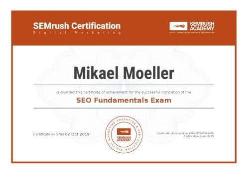 semrush academy certificate