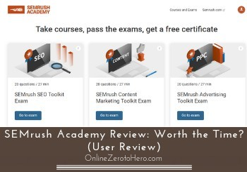 semrush academy review header