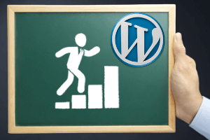steps to create wordpress blog symbol