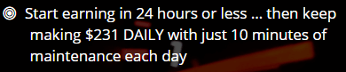 work 10 minutes per day claim